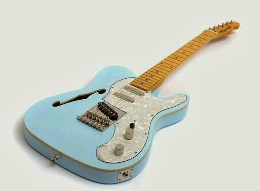 meine gitarren sonic blue thinline dream telecaster hollow lizzy. Black Bedroom Furniture Sets. Home Design Ideas