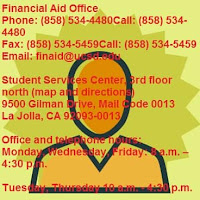 UCSD financial aid office phone number