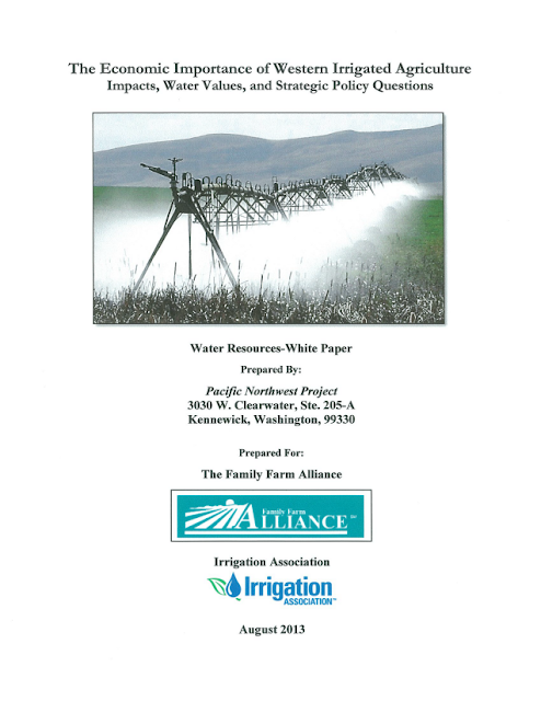 Publicação: The Economic Importance of Western Irrigated Agriculture
