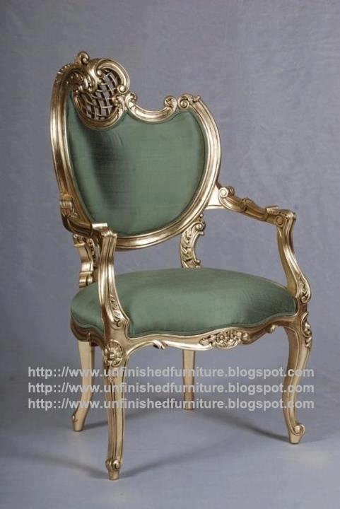 Supplier mebel klasik kursi ukir klasik mahoni kursi mewah ukir jepara  kursi cat emas gold leaf. Unfinished Furniture ...