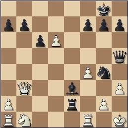 Partida de ajedrez Escuté vs. Capó, posición después de 23...Ae3
