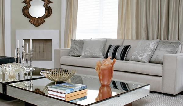 decorar sala branca:Vidros e Espelhos: Mesa espelhada Decoração vidros e espelhos