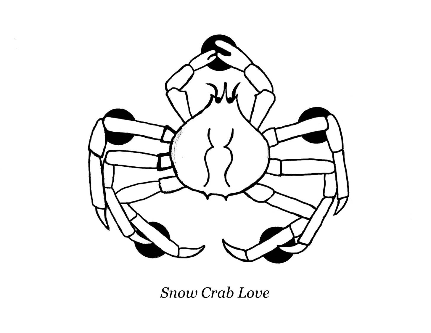 King Crab Drawing These For a King Crab Pod