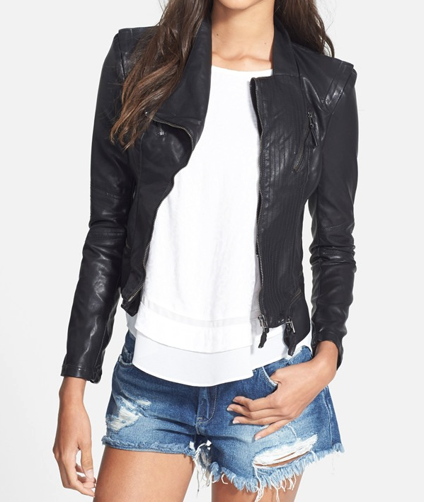 Fall fashion - BLANKNYC Faux Leather Jacket in black