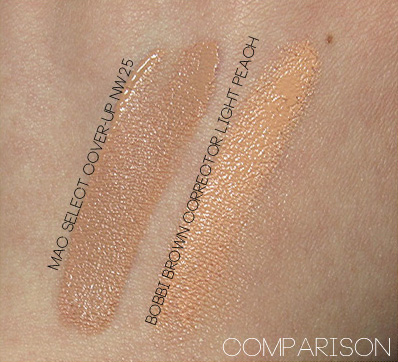 bobbi brown corrector light peach swatch