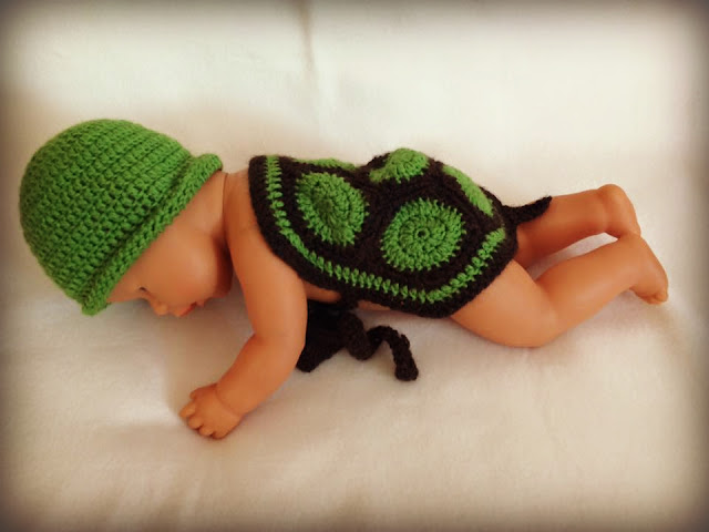 Schildkröte Kostüm Baby gehäkelt - Ideenpiratin