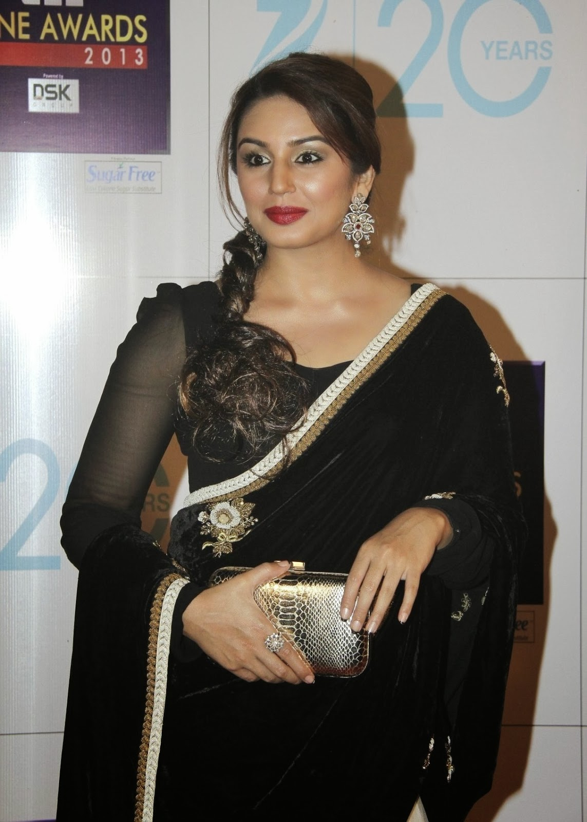 huma qureshi hot in black saree upcoming film quotdedh