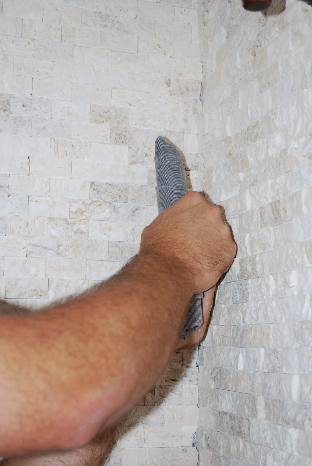 how to grout with grout bag