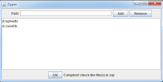 add file and directories to the zip file program