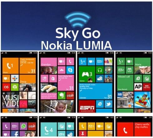 Arriva l'applicazione Sky Go per tutti gli smartphone Nokia Lumia con windows phone 8