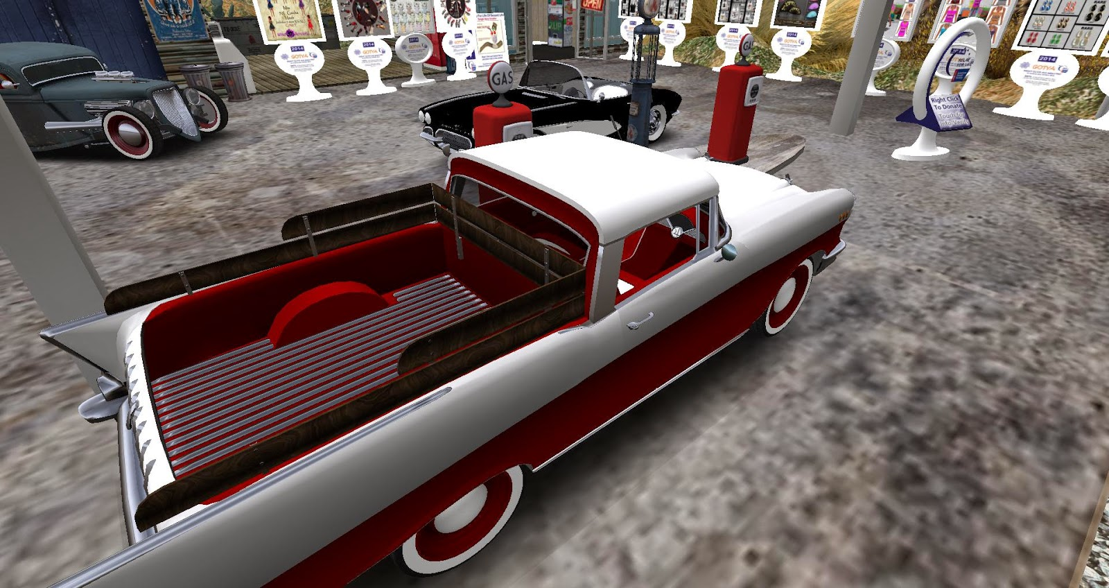 Chey's Second Life Blog: Way Too Cool Retro Cars at FFL!