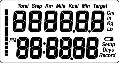 how to set a pedometer instructions