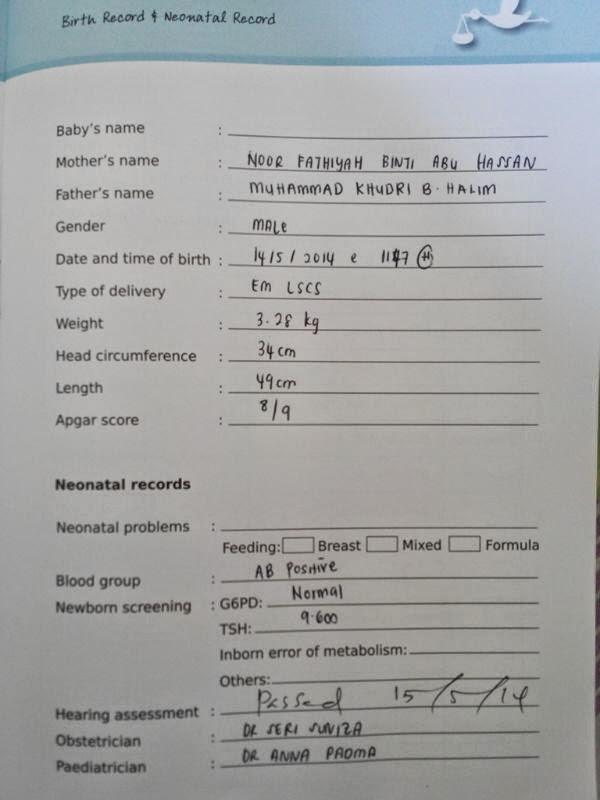 A'sim - 1st Month Checkup