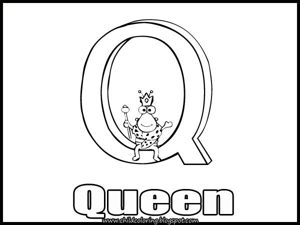 Bubble Letter Q Coloring