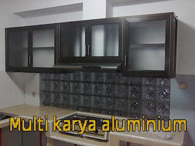kitcenset bahan aluminium coklat