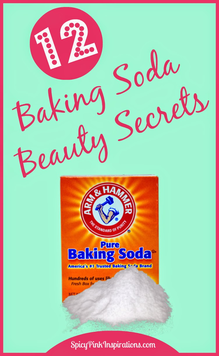 12 Baking Soda Beauty Secrets | www.SpicyPinkInspirations.com