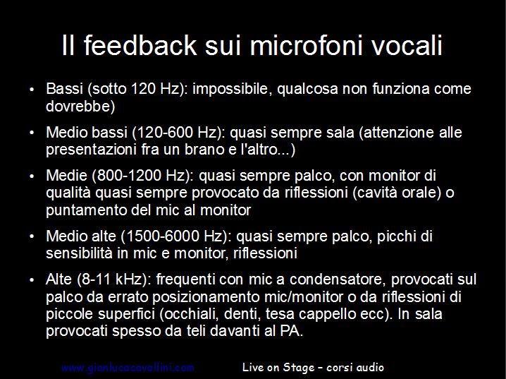 slide seminario audio live: il feedback