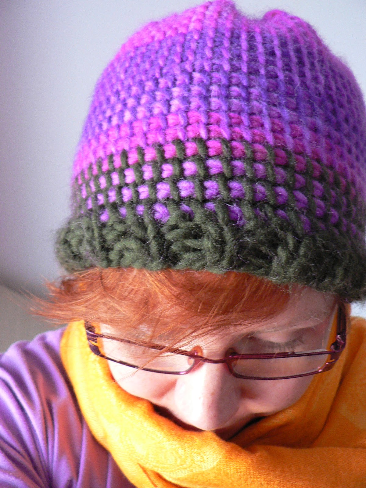 Knit n Pearl: Tunisian Crochet Hat Tutorial
