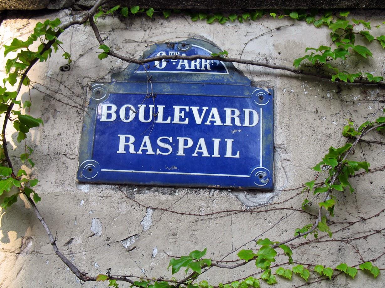 street sign Boulevard Raspail