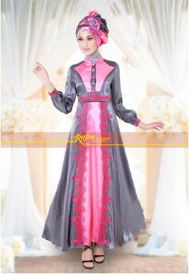 Kumpulan model gamis remaja terbaru, koleksi model baju gamis 2016