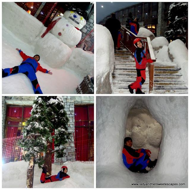 fun at Ski Dubai's Snow Park