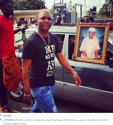 oritsefemi lose dad