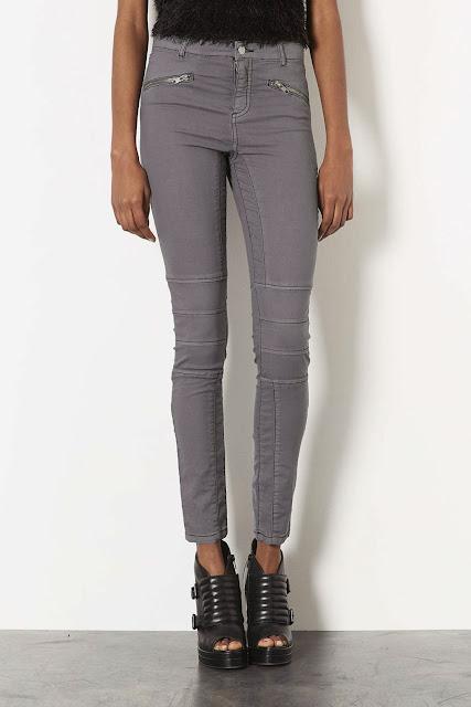 grey biker jeans
