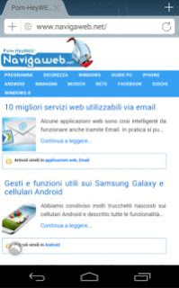 aprire siti come su PC su smartphone