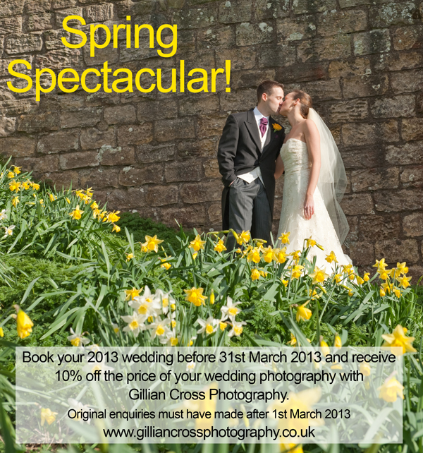 special offer on your weddin photography