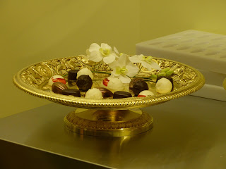 Chocolates in the kitchen display in a Royal Welcome  2015 exhibition at Buckingham Palace  Photo © Andrew Knowles