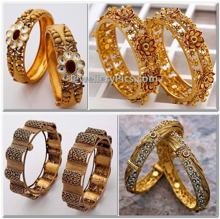 antique gold bangle pair catalogue