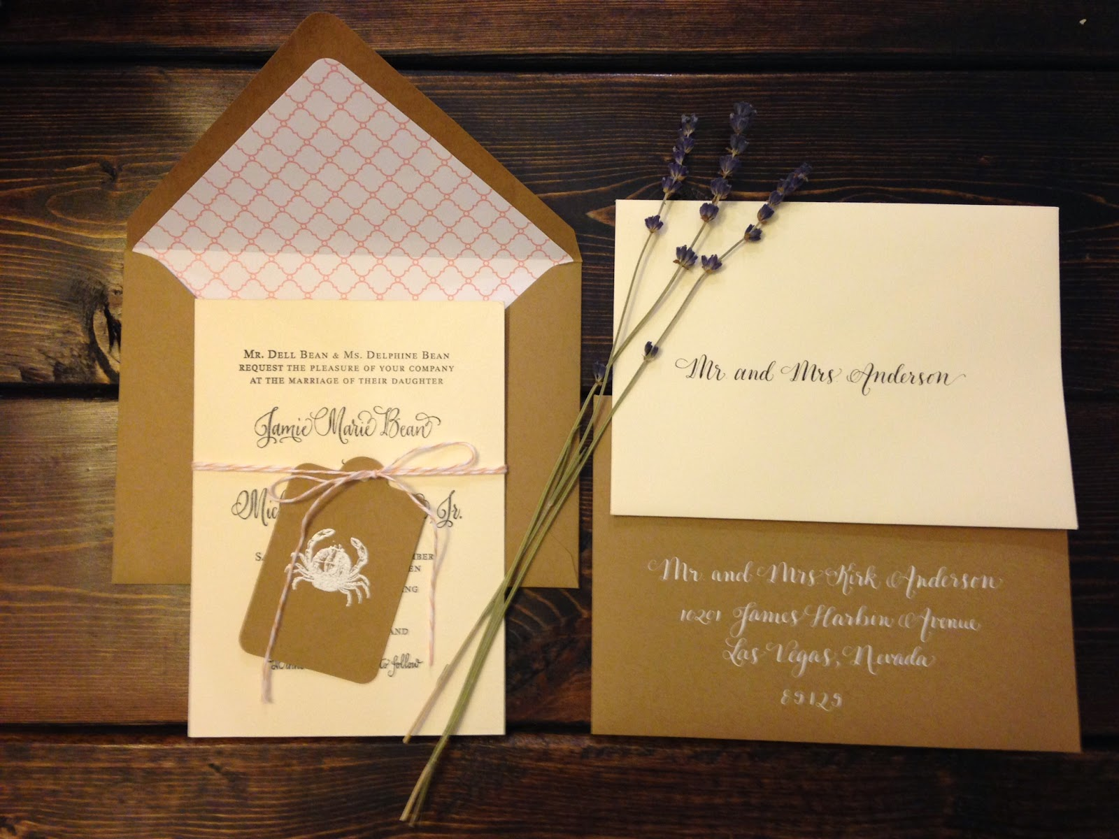 antique wedding calligraphy