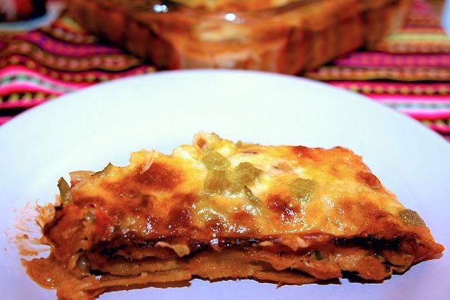 corn tortilla beef enchilada: simplelivingeating.com