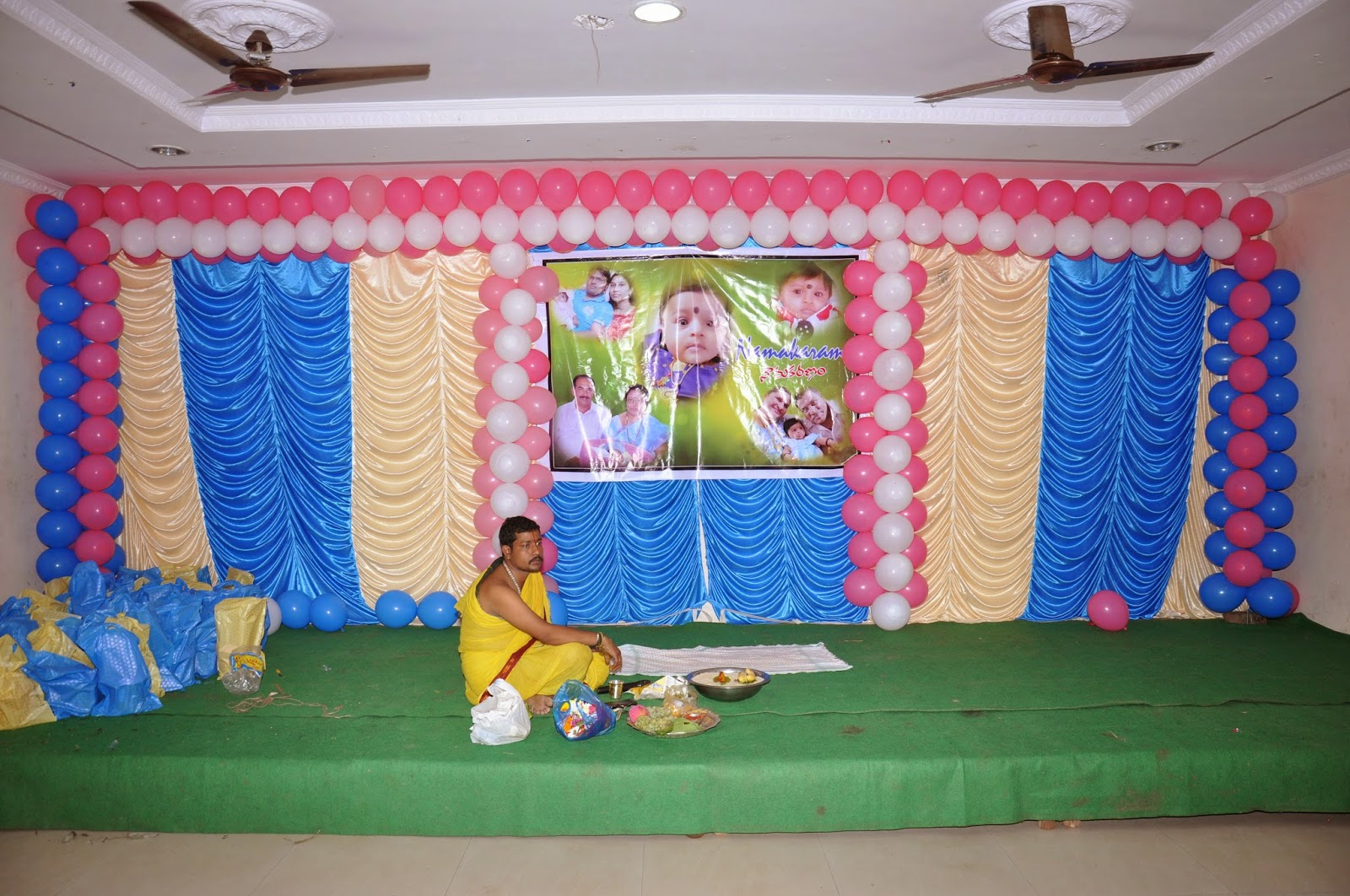 Baby overall care baby ceremonies for Baby name ceremony decoration