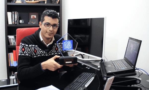 أمين رغيب يتوج بجائزة أفضل شخصية ويب لسنة 2014