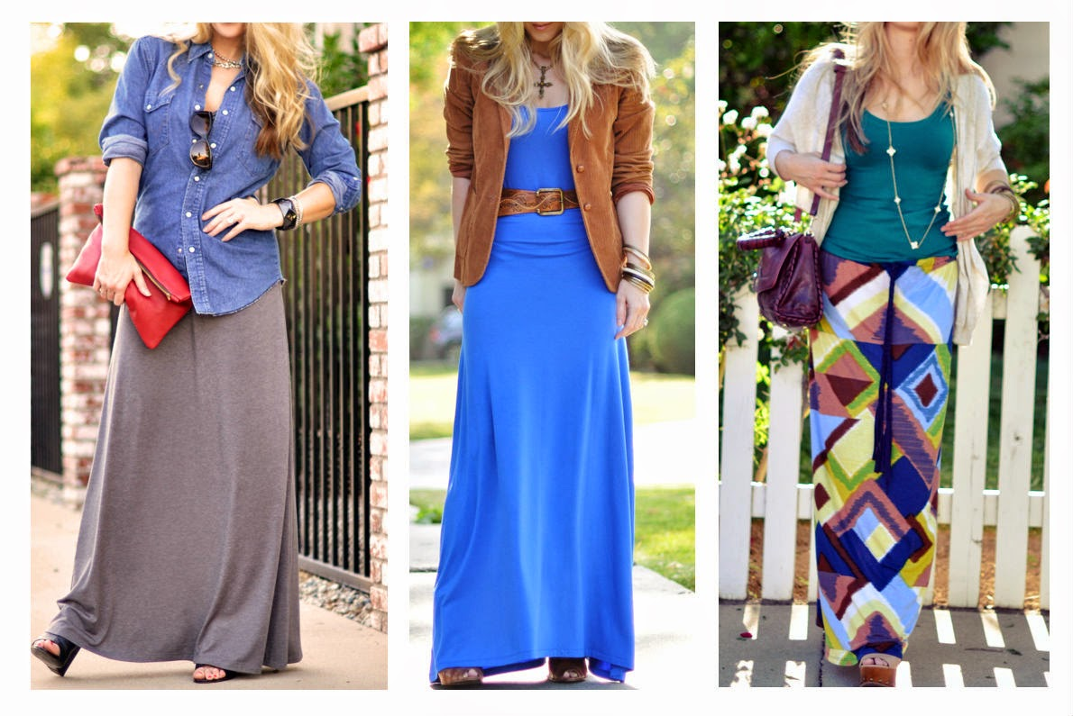 How to wear a summer maxi dress in fall