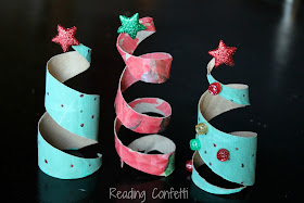 Toilet Paper Roll Christmas Tree from Reading Confetti