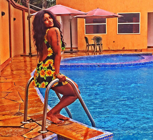 Photo 39 S Shilole Kiuno Spotted In Swimming Pool Enjoying Her Life If You Get Chance To