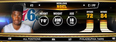 NBA 2K13 76ers Nerlens Noel - Round 1 Pick 6th Overall