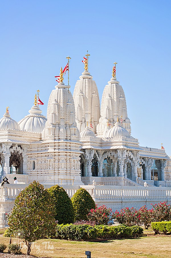 Hindu Temple on Thanksgiving Houston area Texas
