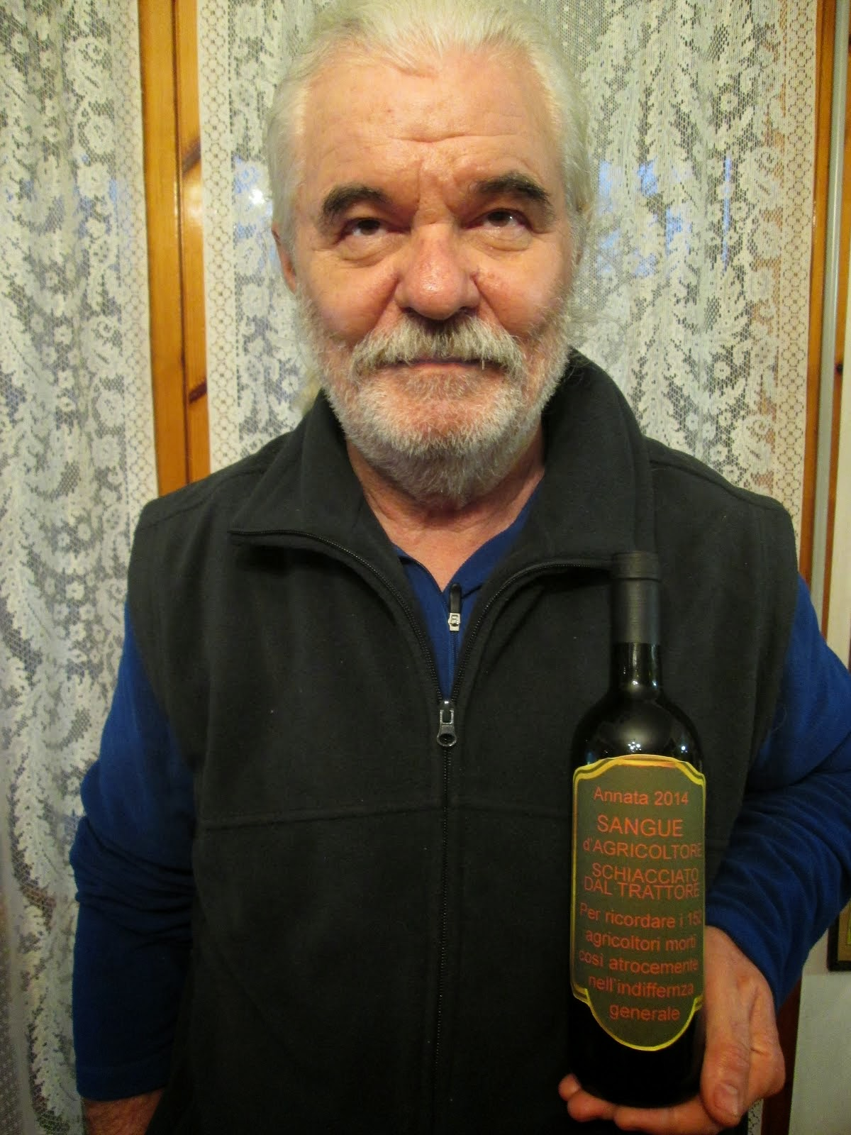 Bottiglie sangue d'agricoltore
