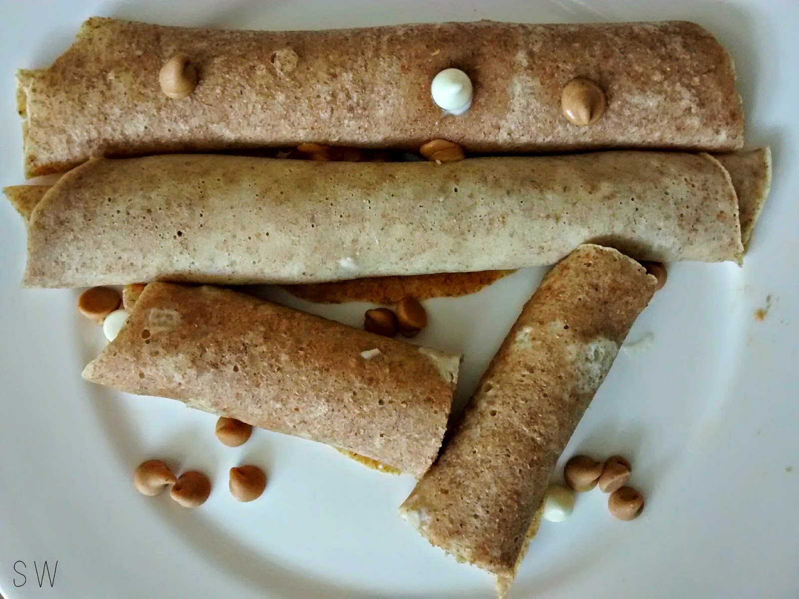 Simply Wright: Whole Wheat Peanut Butter & Jelly Crepes