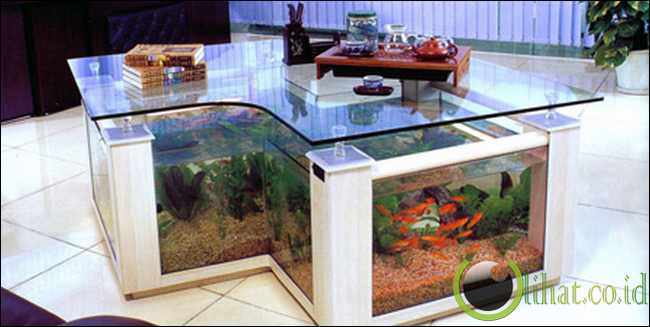 Aquarium meja kerja