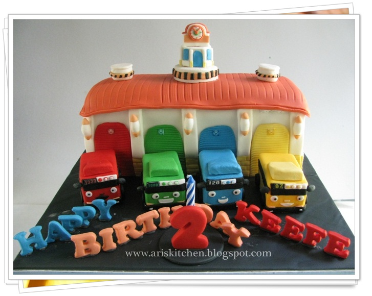 dAngel Cakes Tayo The Little Bus and Garage Cake