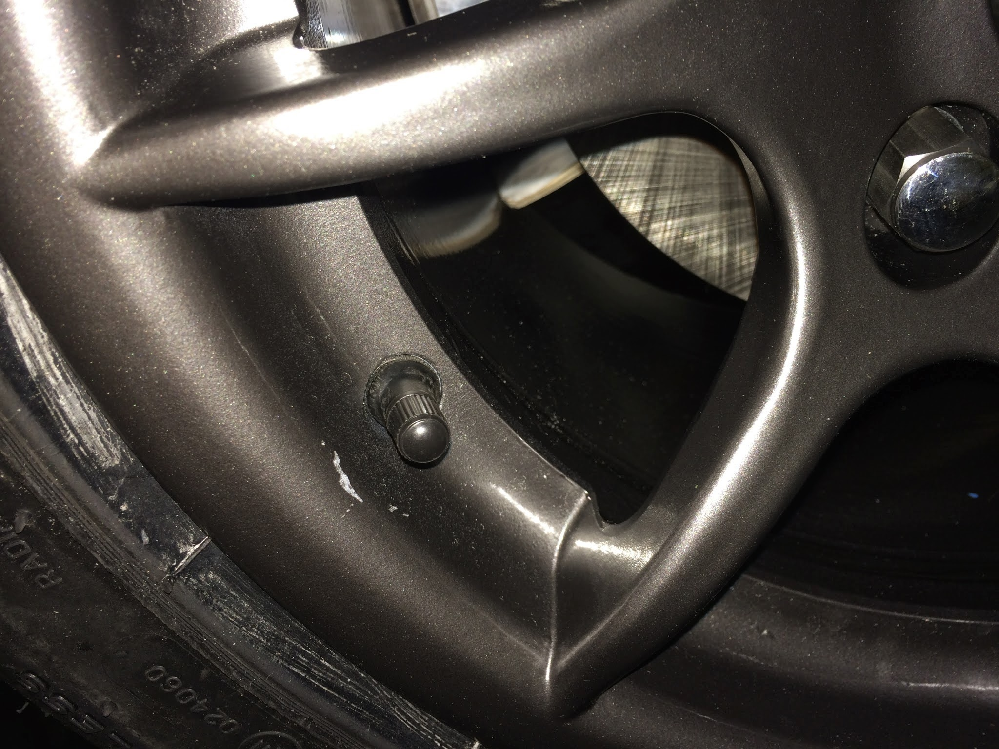 Scratched R500 wheel.