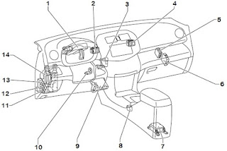 Wiring Diagrams - 2006 Toyota RAV4 Instrument Panel Relay Location and Layout