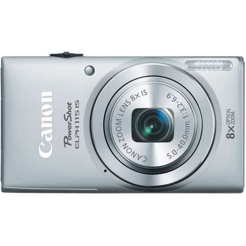 Canon PowerShot 8602B001 16MP Digital Camera with 2.7-Inch LCD (Silver)-ELPH 115