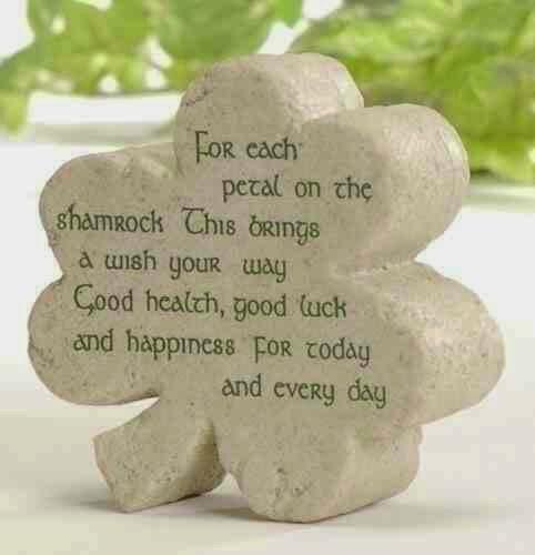 shamrock, st patricks day, four leaf clover, irish quote