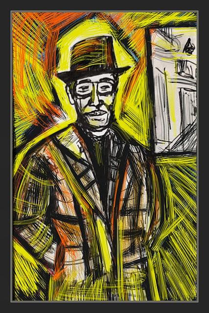 ERNEST DESCALS-PINTOR-RETRATOS-HOMENAJES-ARTISTAS-JOHN HOLLYDAY