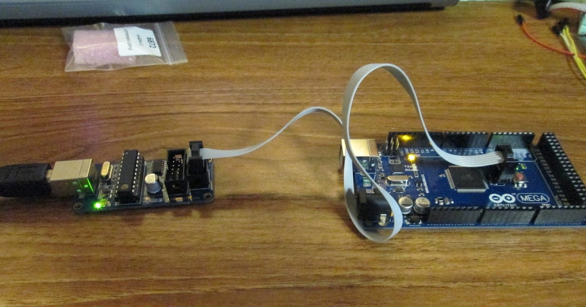 Projects from tech burn bootloader to arduino mega rev